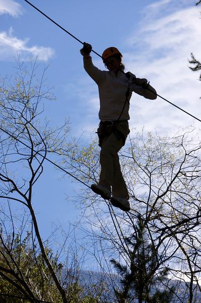 Allison walking the tightrope