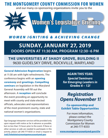 2019-01-27 MCCW Women's Legislative Briefing