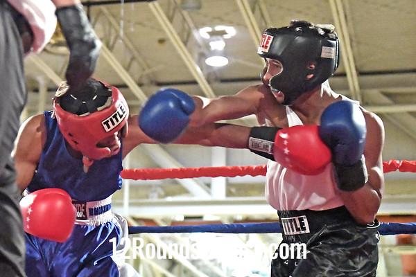 Bout 12 Seandell Lockett, RG, Columbus -vs- Bryan Torres, Lorain, BG, 132 #