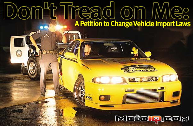 Petition to Change vehicle import laws