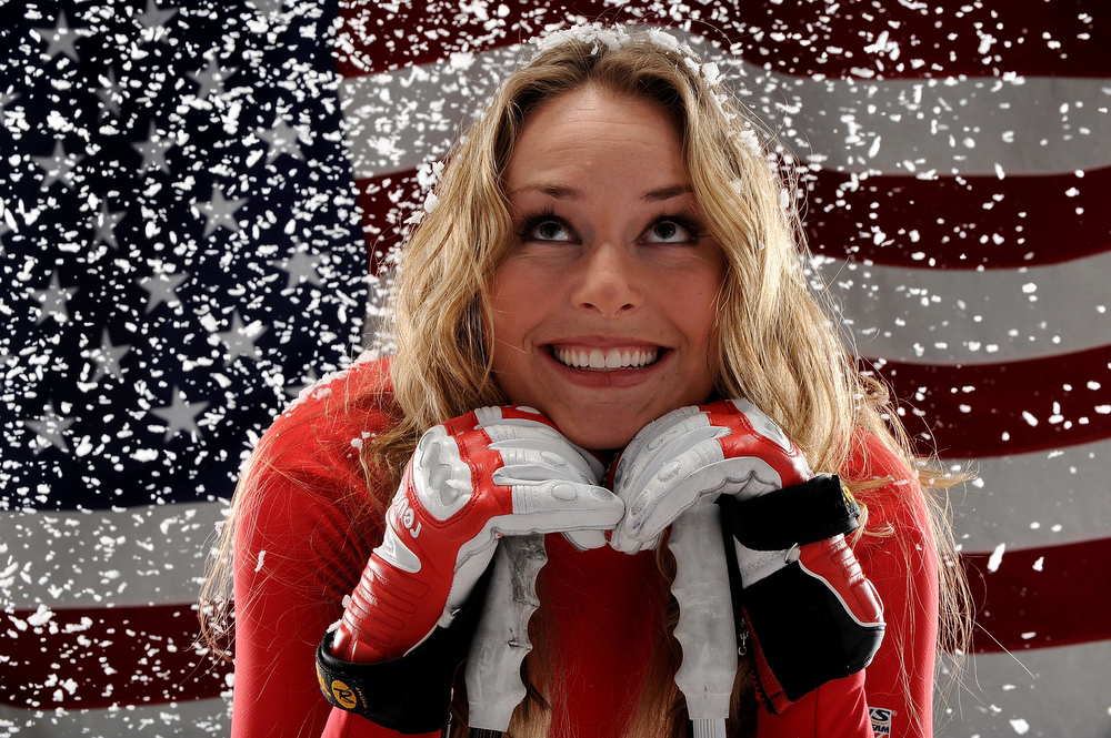 . Alpine skier Lindsey Vonn poses for a portrait during the NBC/USOC Promotional Photo Shoot on May 13, 2009 at Smashbox Studios  in Los Angeles, California.  (Photo by Harry How/Getty Images)