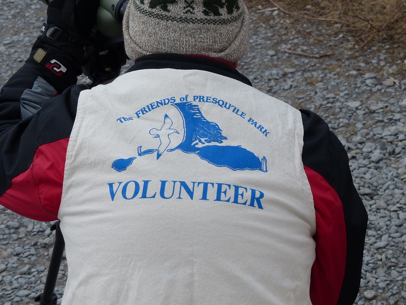 Bruce Parker is a volunteer with the Friends of Presqu'ile Park and is also the webmaster for the Willow Beach Field Naturalists. Other WBFN members were scheduled to assist over the weekend, including Elizabeth Kellogg and Roger Frost. Thank you to all the volunteers for their contributions.