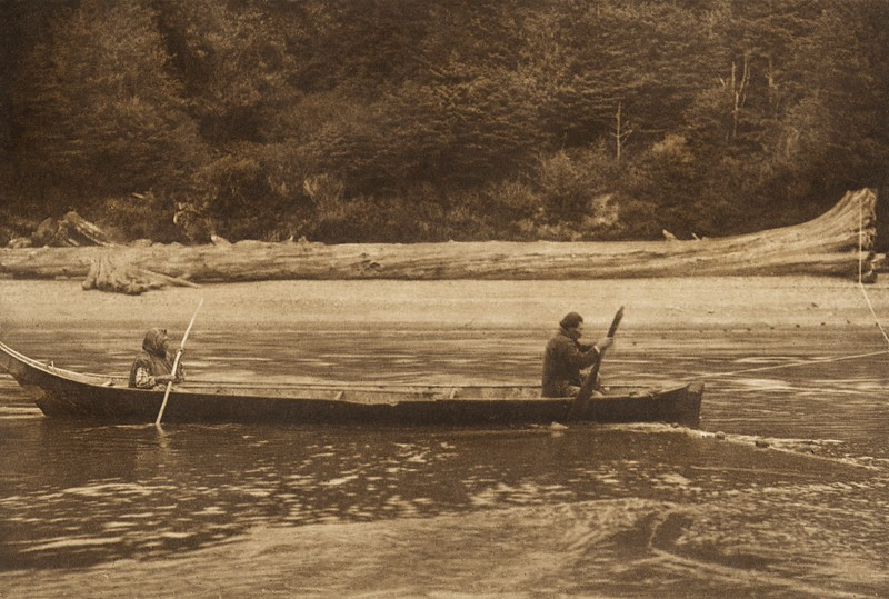 Setting the Net - Quinault (The North American Indian, v. IX. Norwood, MA: The Plimpton Press, 1913)