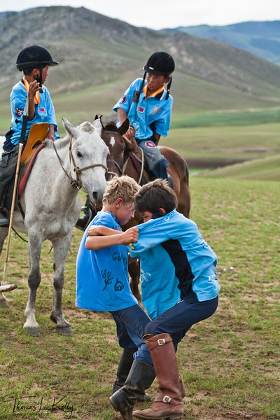 Kid's Polo at Genghis Khan Polo Club in Monkhe Tingri. Mongolia