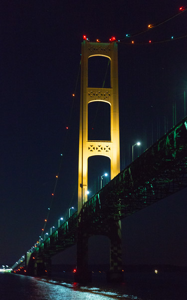 North pier of the Mackinac Bridge