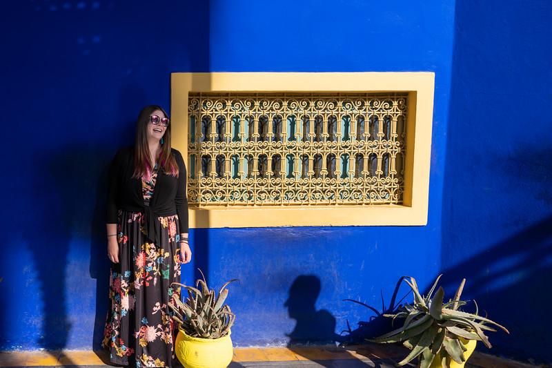 Amanda at Jardin Majorelle in Marrakech