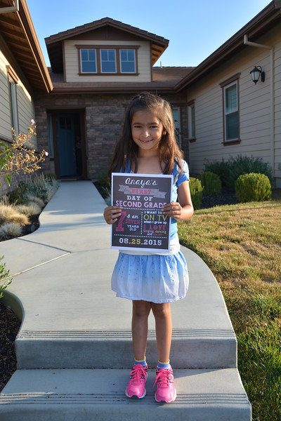 Anaya first day of 2nd grade 8/15