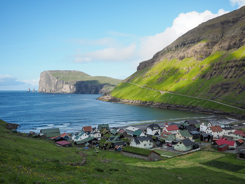 Tjørnuvík in the Faroe Islands