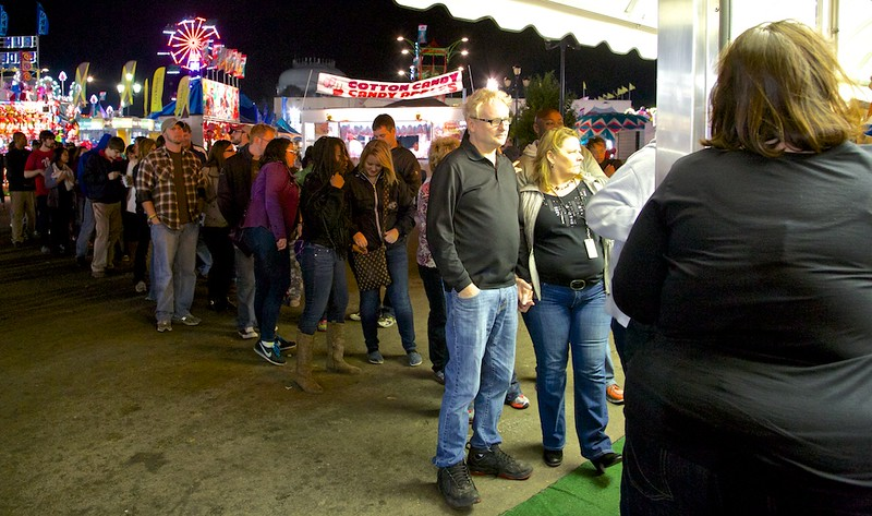 Longest line I saw all night at a food stand