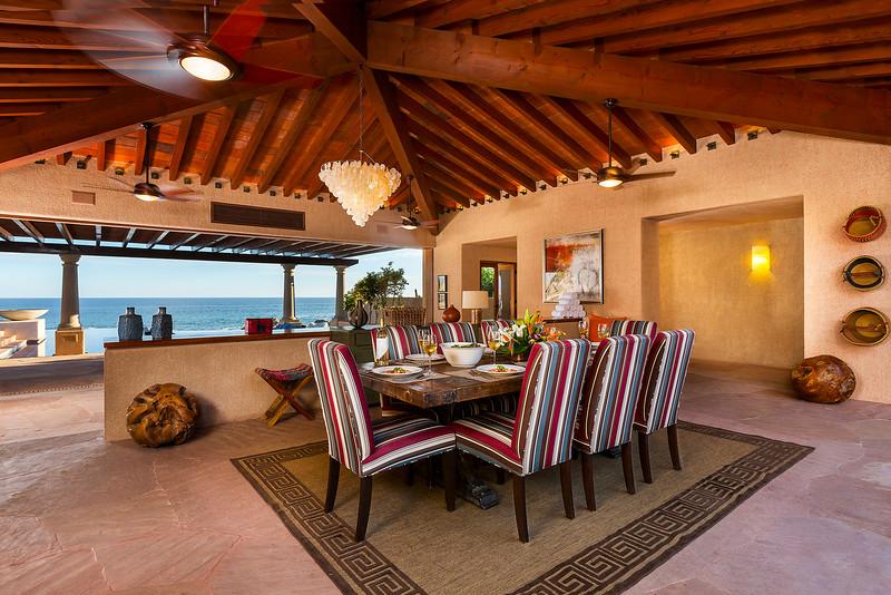 Dining Room, Las Residencias at Esperanza; Los Cabos, Mexico