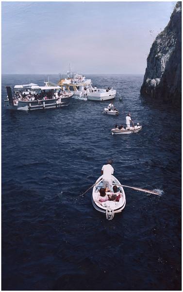 """""""Capri's Boatman"""" (oil on linen) by Tun Wang"""