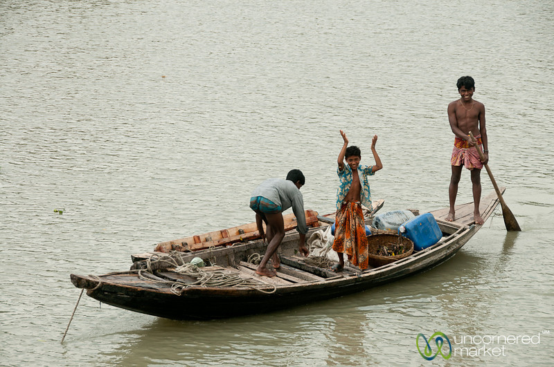 Excited Boy on Small Boat - Bangladesh