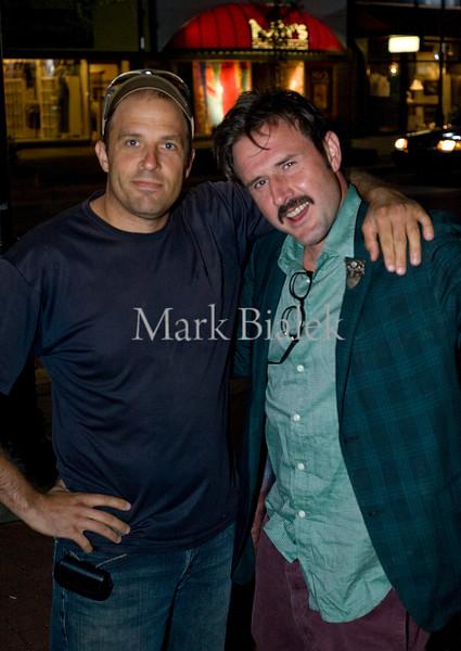 Photog Mark Bialek and actor David Arquette at Main & Liberty in Ann Arbor, MI.  You gotta put the camera down sometimes.  (Photo by Jordan Johnstone)