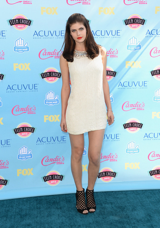 . Actress Alexandra Daddario attends the Teen Choice Awards 2013 at Gibson Amphitheatre on August 11, 2013 in Universal City, California.  (Photo by Jason Merritt/Getty Images)