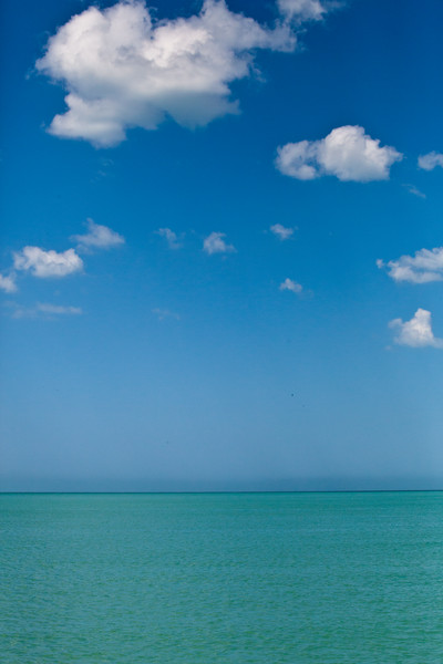 Gulf waters: turquoise