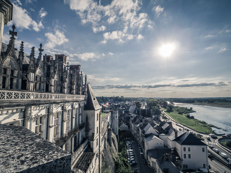 VIew of Loire River from Chateau Royale d Amboise