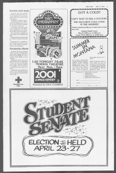 Daily Trojan, Vol. 76, No. 40, April 17, 1979