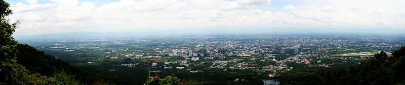 Chiang Mai from Doi Suthep August 2, 2009 (Panorama via Adobe Photoshop CS4 Extended)