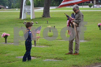 5/23/15 Memorial Day Flag Grave Markers Placed To Honor Veterans by Chris Rinehart