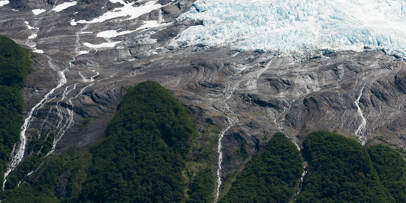 Aerial view of a glacier, Lake Argentino, Los Glaciares National Park, Santa Cruz Province, Patagonia, Argentina