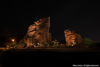 2015-10-14 Snow Canyon Parkway Traffic Circle Lightpainted