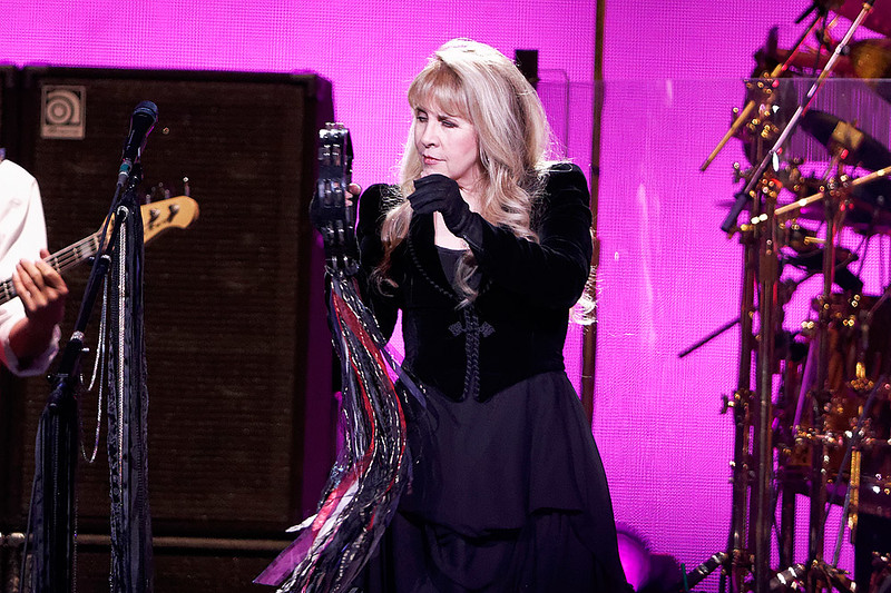 . Stevie Nicks plays tambourine with Fleetwood Mac on Wednesday, Oct. 22, 2014, at The Palace of Auburn Hills. Photo by Ken Settle-Special to The Oakland Press