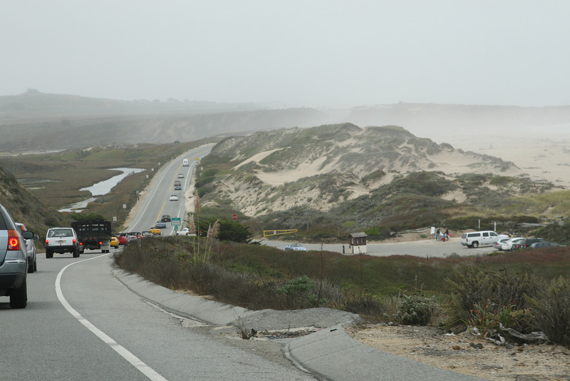 Saturday morning, on Hwy 1, south of Half Moon Bay.