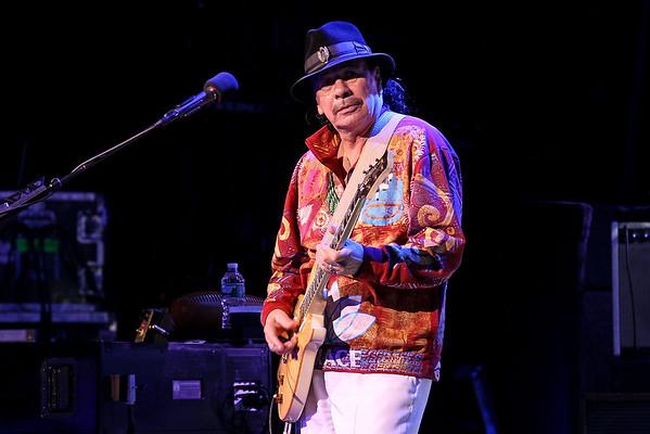 POUGHKEEPSIE, NEW YORK - APRIL 10:  Musician Carlos Santana performs on stage at The 1869 Bardavon Opera House on April 10, 2016 in Poughkeepsie, New York.