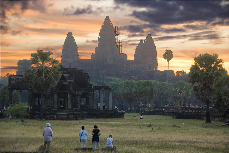 Angkor Wat at sunrise. Not the greatest picture, but what the heck.