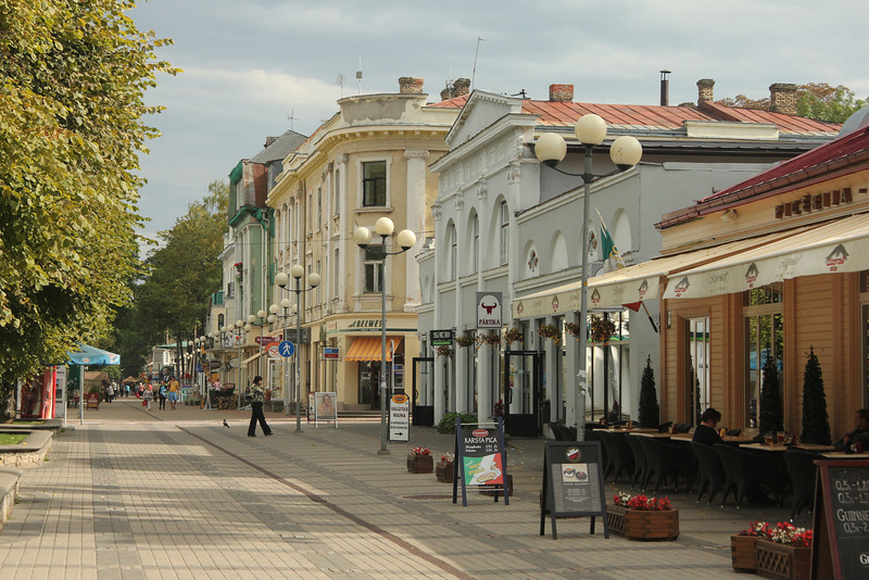 Jurmala, 12 miles west of Riga, is a popular resort town for jetsetters and day tripping Rigans.