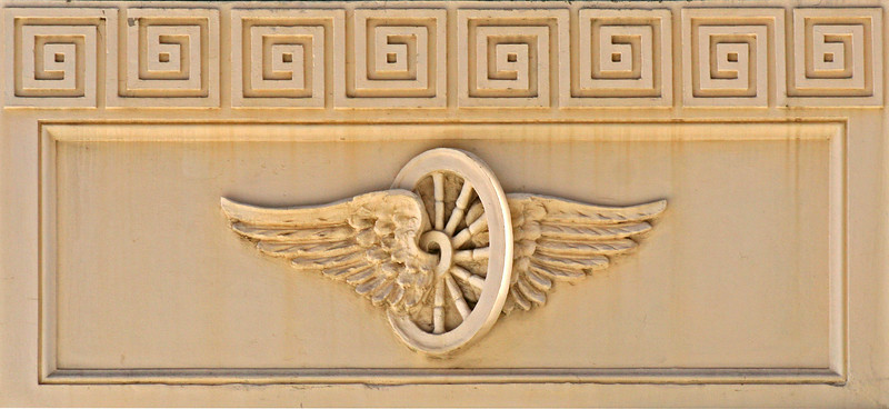 30 July 2014: Facade moulding, Tattersalls Club, Brisbane, Queensland.
