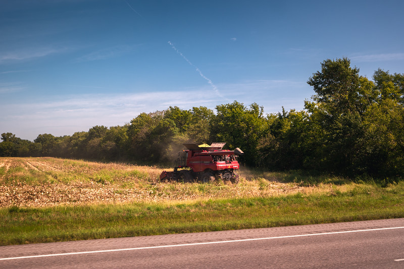 Kansas Early Corn Harvest