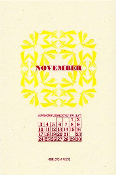November, 2019, Heirloom Press