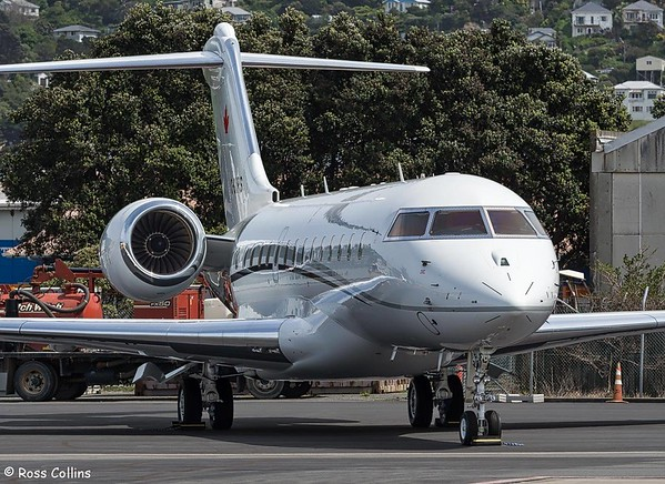 Bombardier Global Express C-GNRS at Wellington 2017