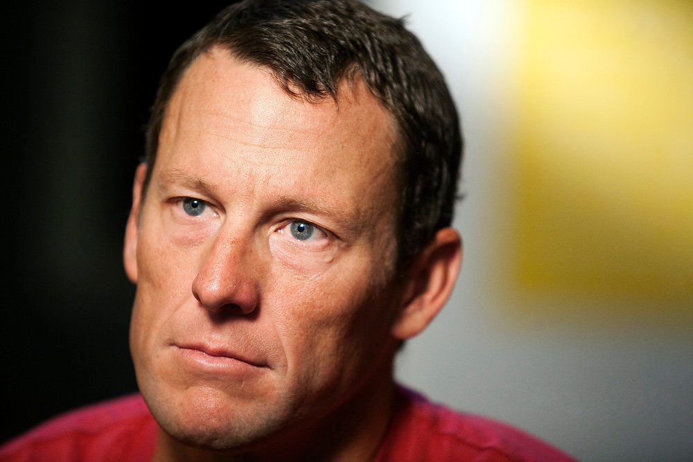 ". Lance Armstrong pauses during an interview in Austin, Texas on Feb. 15, 2011. In 2012, Armstrong decided to give up the battle against doping charges, saying ""enough is enough\"" but acknowledging no wrongdoing. The move began his swift fall from being perhaps the nation\'s best-known cancer-fighting hero, and though he maintains he was victimized by a \""witch hunt\"" he was still stripped of all seven of his Tour de France victories. (AP Photo/Thao Nguyen, File)"