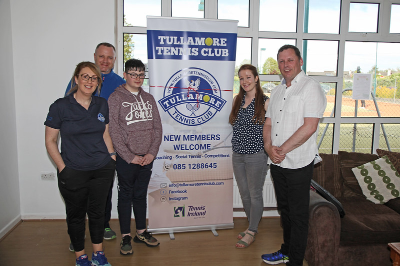 TDs Barry Cowen at Tullamore Tennis Club's open night on Monday - 17th June 2019     Picture. Niall O'Mara