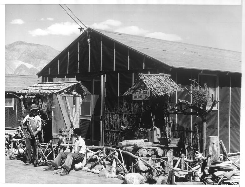 """""""Manzanar Showplace"""" -- caption on photograph"""