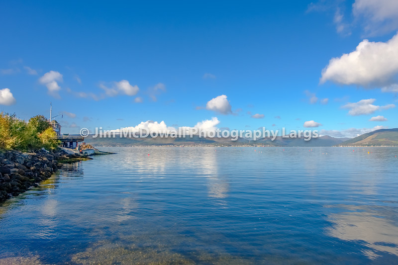 The Bay at Royal Gourock Yacht Club Looking up to the Holy Loch and Beyond.