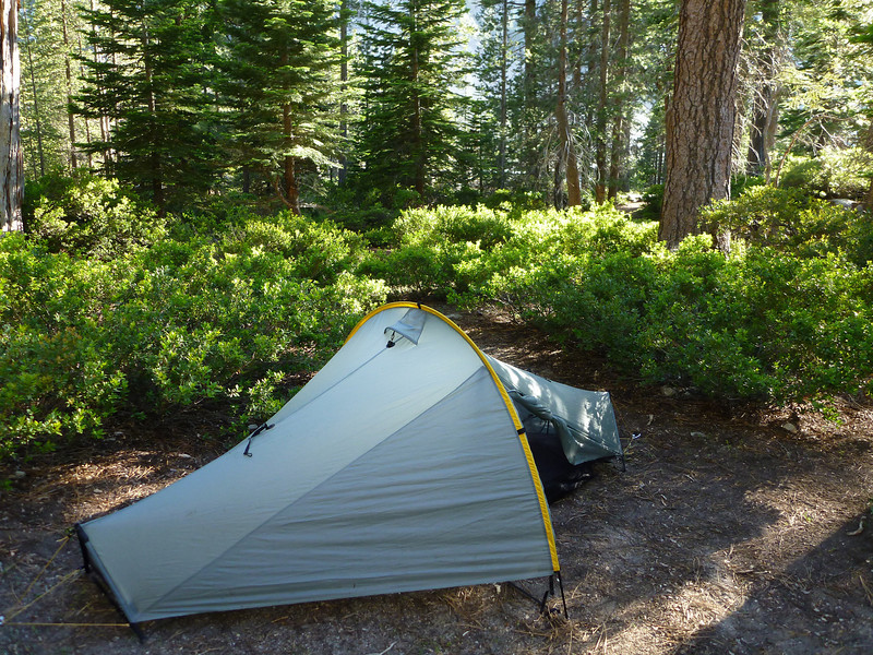Camping above Waterwheel Falls.