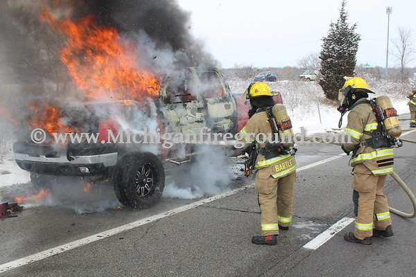2/8/20 - Mason car fire, southbound US-127 @ MM 62