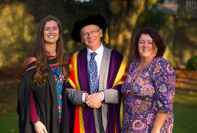 01/11/2017. Waterford Institute of Technology Conferring is Margaret O'Niell from Butlerstown with her mum Catherine and Prof. Willie Donnelly, President of WIT  Picture: Patrick Browne
