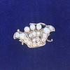1.52ctw Victorian Diamond Crown Motif Clasp 2