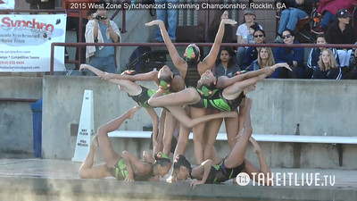 E12 - Senior Free Team - 2015 Western Zone Synchronized Swimming Championships - Livesynchro Powered by: Takeitlive.tv