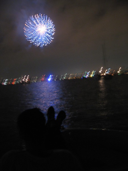 Captain Raf enjoys the fireworks