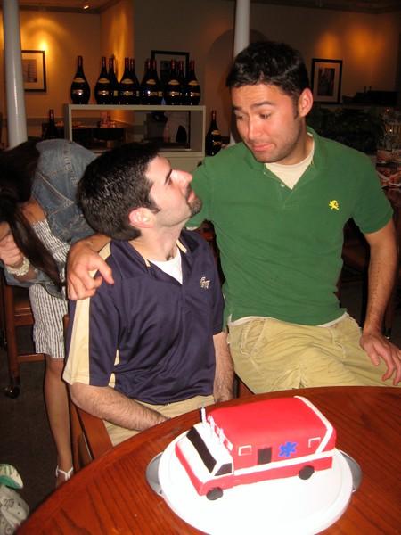 David with cake co-creator John