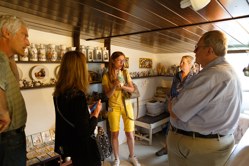 """""""Home visit"""" in Bratislava Region, Slovakia... Some of their museum quaity ceramics thay have created at their home."""