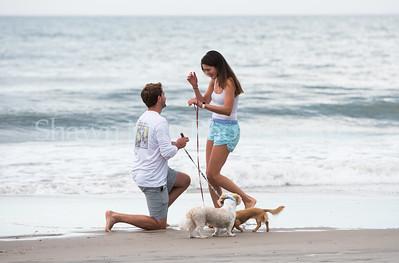 Scott Beach surprises Jess Nuns Beach Stone Harbor NJ