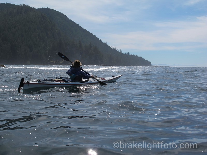 Rounding the Headlands off San Josef Bay