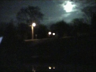 . This April 14, 2010 image made from a dash cam provided by the Howard County Sheriff\'s Department shows a meteor, top right, near Cresco, Iowa that passed over Eastern Iowa. Sonic booms shook trees and houses in the area. (AP Photo/Howard County Sheriff\'s Department)