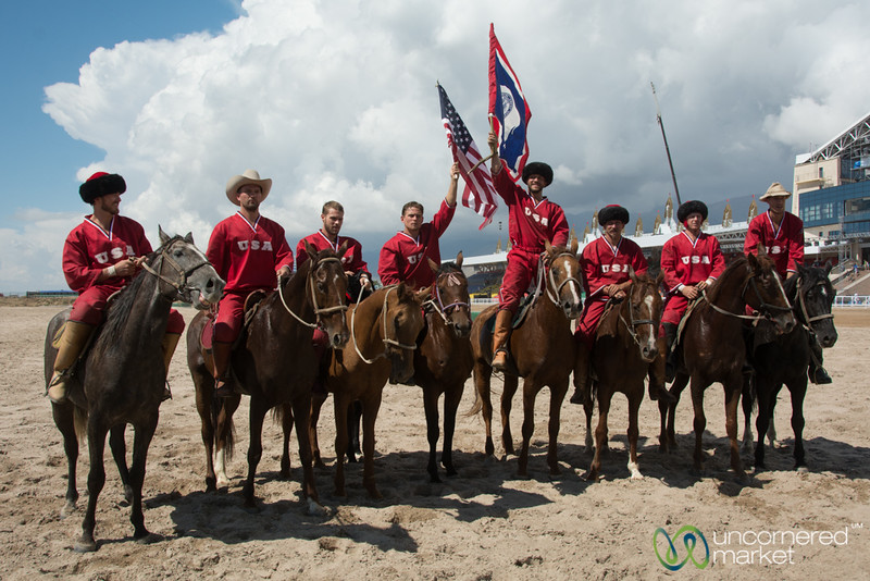 American Kok-Boru Team after Final Match at World Nomad Games - Kyrgyzstan